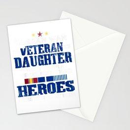 I Am A Veteran   Korean War Veteran Daughter T Shirt Stationery Cards