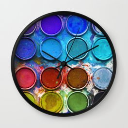 Paintbox Palette Wall Clock