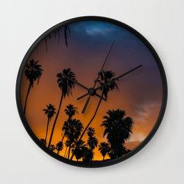 Blazing Sunrise in Laguna Beach Wall Clock