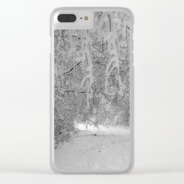 Winter Wonderland Clear iPhone Case