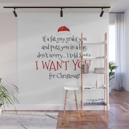 I Want You For Christmas Wall Mural