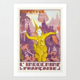 CAMBODIA CAMBODGE PNOM PENH L'INDOCHINE FRANÇAISE. 1931 JOSEPH HENRI PONCHIN Art Print
