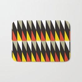 Geometric Pattern #187 (harlequin red yellow) Bath Mat