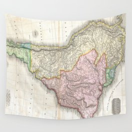 Vintage Map of South America (1818) Wall Tapestry