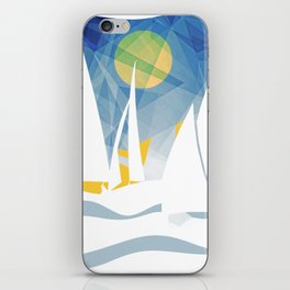 Geometric Sailing Boats iPhone Skin