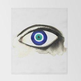 Evil Eye See You Throw Blanket