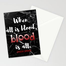 ALL IS BLOOD | NEVERNIGHT Stationery Cards