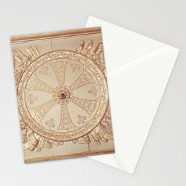 Gold Circle Stationery Cards