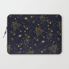 Golden Celestial Bugs Laptop Sleeve