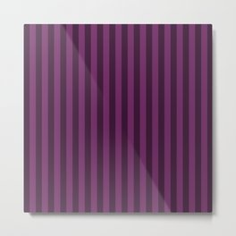 Byzantium Purple Stripes Pattern Metal Print