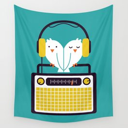 Radio Mode Love Wall Tapestry