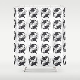 Save The Orcas (50% of commission is donated to the World Wildlife Fund) Shower Curtain