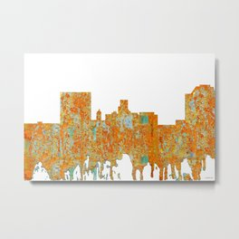 Augusta, Georgia Skyline - Rust Metal Print