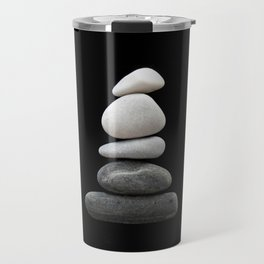 balance pebble art Travel Mug
