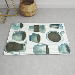 coffees watercolor Rug