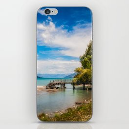 Unspoiled alpine scenery at Kinloch Wharf, New Zealand iPhone Skin