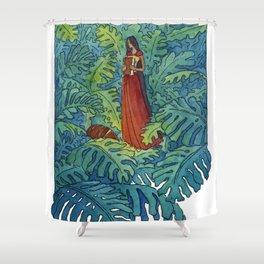 Book of Secrets Shower Curtain