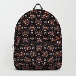 Daisy Flower Geometric Circle Pattern Backpack