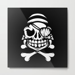 Jolly Pirate Metal Print