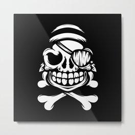 Jolly Pirate Metal Print