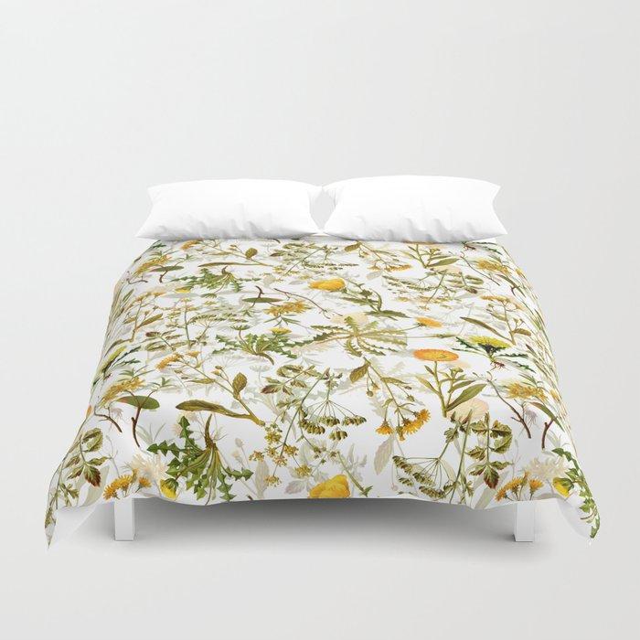 Vintage & Shabby Chic - Yellow Wildflowers Bettbezug
