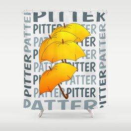 Umbrella  Pitter Patter Shower Curtain