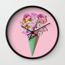 Flower Flurry I Wall Clock