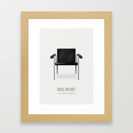 Basic Instinct - Alternative Movie Poster Framed Art Print