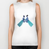 holiday Biker Tanks featuring Holiday by Laura O'Connor
