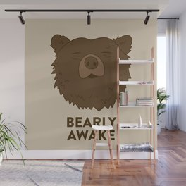 BEARLY AWAKE Wall Mural