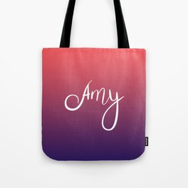Amy - Coral Navy Ombre Tote Bag