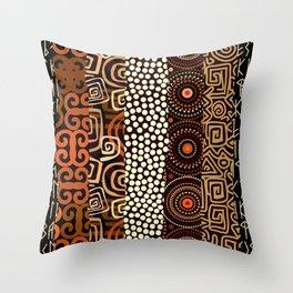 Geometric African Pattern Throw Pillow