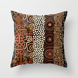 Geometric African Pattern Throw Pillow