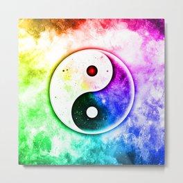 Transcendence Yin Yang Metal Print