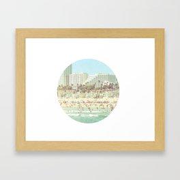 Santa Monica Summer Framed Art Print
