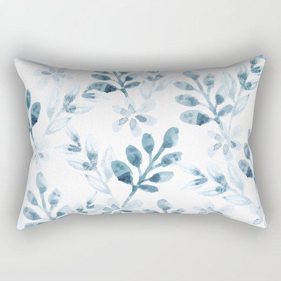 Watercolor Floral Pattern (Winter Version) Rectangular Pillow