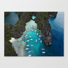Island hopping in the Philippines Canvas Print