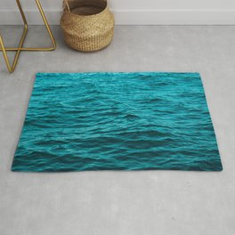 water surface, ocean wave photo - landscape photography Rug