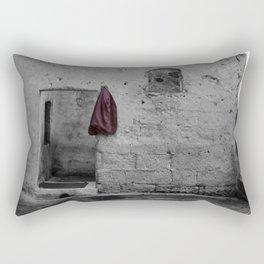 Sassi di Matera with red jacket Rectangular Pillow