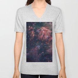 Nebula and Stars Unisex V-Neck