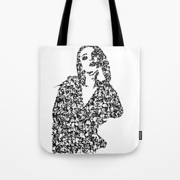 Kanji Calligraphy Art :woman's face #21 Tote Bag