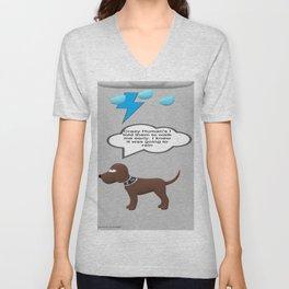 Dog vs. crazy Human's Unisex V-Neck