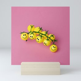 Tomatoes make me happy! Mini Art Print