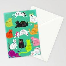 Cats Calendar 2017 Stationery Cards