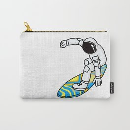 Astronaut Rocket Man on Surfboard Carry-All Pouch