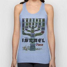Vintage poster - Israel Unisex Tank Top