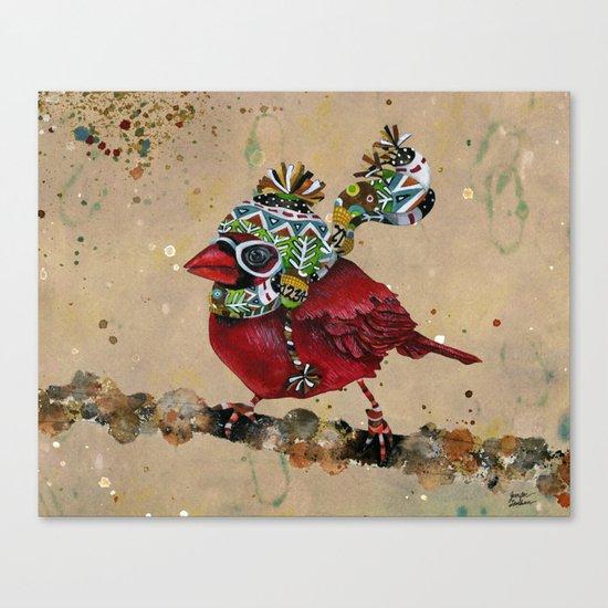 Cardinal Blaze 2 Canvas Print