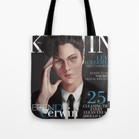 snk Tote Bags featuring SnK Magazine: Levi by emametlo