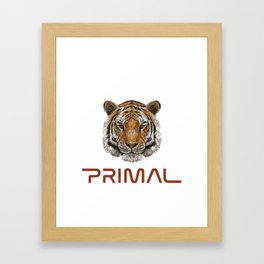 Primal Tiger Framed Art Print