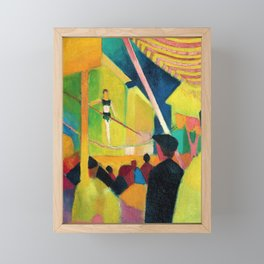 August Macke - Seiltanzer - Digital Remastered Edition Framed Mini Art Print